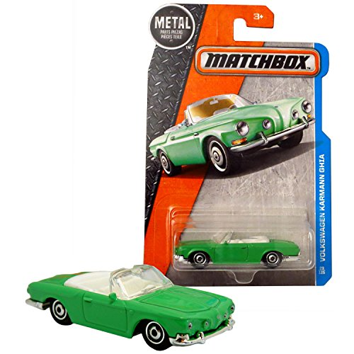 Matchbox Year 2016 MBX Adventure City Series 1:64 Scale Die Cast Metal Car #29 - Green Classic Convertible Coupe VOLKSWAGEN KARMANN GHIA DJV74