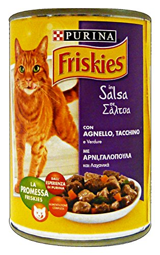FRISKIES Bocconcini Truthahn geschmort Lamm + Gemüse 400 gr Katzen Nassfutter
