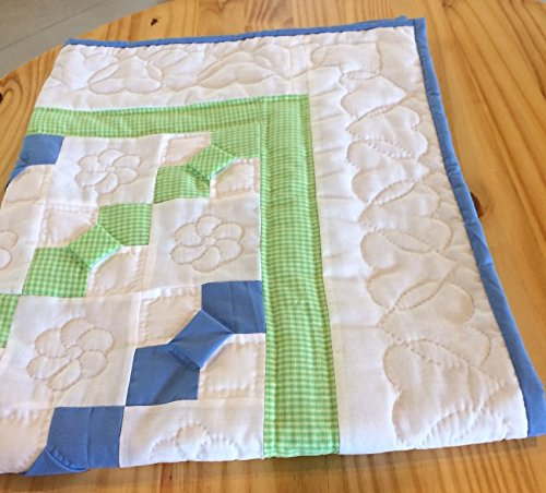 Amish Hand Sewn Baby Boy or Girl Crib Quilt - Checked