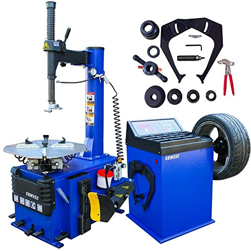 Tire Changer, New 1.5 HP Wheel Changers Machine Combo Balancer Rim Clamp 950 680/12 Month Warranty (Best Tire Balancing Machine)