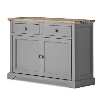 Amazon.de: Florence Sideboard. Solides Dove Grau Sideboard, Küche ...