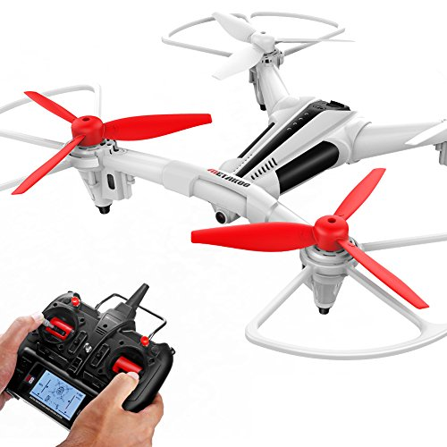 METAKOO Quadcopter Drone, X300 RC Drone 2.0MP HD Camera Live Video 2.4G 6 Axis Remote Control Quadcopter Altitude Hold, Headless Mode, 3D Flip One-Key Landing/Taking Off