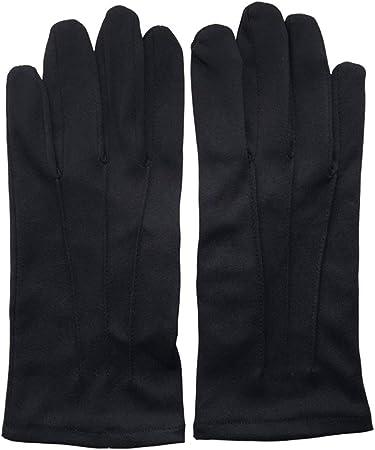 FDHLTR Guantes Negro Etiqueta Conductor algodón Protector a Prueba de Polvo Guantes Finos Guantes (Color : Black, Size : S): Amazon.es: Hogar