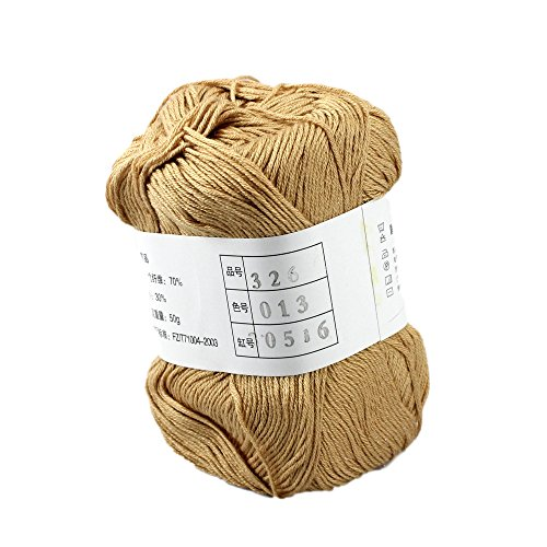 Celine lin One Skein Super Soft Natural Baby Bamboo Cotton Knitting Yarn (Baby Soft Yarn Cream)