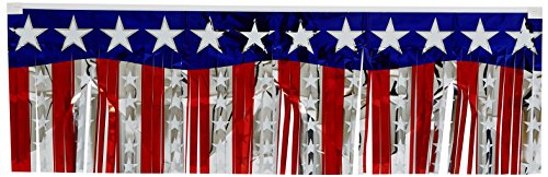 FR Metallic Stars & Stripes Fringe Banner Party Accessory (1 count) (1/Pkg)