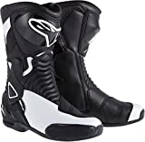 NEW ALPINESTARS STELLA SMX-6 PERFORMANCE RIDING WOMENS SPORT-FIT BOOTS, BLACK/WHITE, EUR-39/US-8
