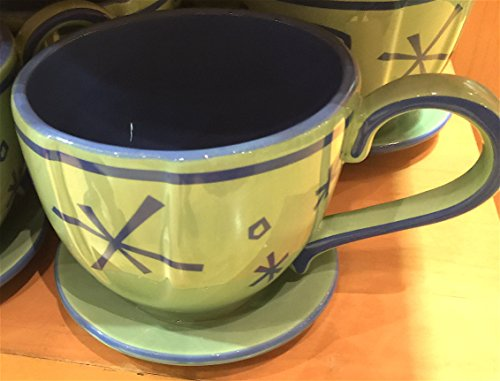 (Disney Parks Mad Tea Party Ride Green Teacup Ceramic Mug)
