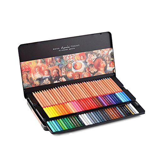 Premier Marco Renior Fine Art Wooden Colored Pencils Set for Sketching/Drawing/Coloring, Soft Core - Chadstone Kids