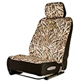Ducks Unlimited Camo Neoprene Low-Back Camo Bucket Seat Cover (Mossy Oak Blades Camo, Durable 3mm Neoprene Fabric, Sold Individually)