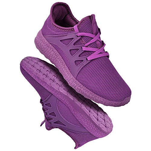 Mesh Mxson Street Lightweight Sport Casual Purple Women's Shoes Breathable Sneakers Walking Ultra XwqrIBq