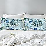 "Arightex 3D Octopus Tentacle Pillow Case Set Set of 2 Nautical Ocean Blue Pillowcase Protector Kid Pillow Case Soft (Ocean Creatures, Standard (20"" x 26""))"