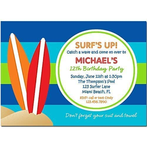 Amazon Surfing Party Invitation