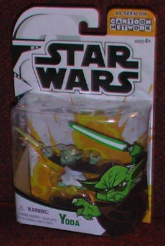 Clone Wars Stars Wars Cartoon Network Yoda action figure