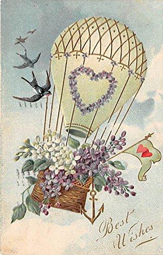 (Best Wishes Hot Air Balloon Postcard)