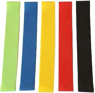 ZhangHongJ,5 Bandes élastiques de résistance d'entraînement de Caoutchouc d'entraînement de Gymnastique de Formation de Force de Gymnastique(Color:Multi)