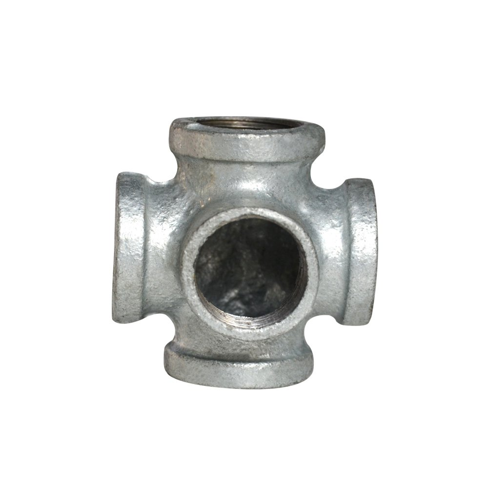 5pack Side Outlet Crossed Galvanized Pipe Fittings Industry