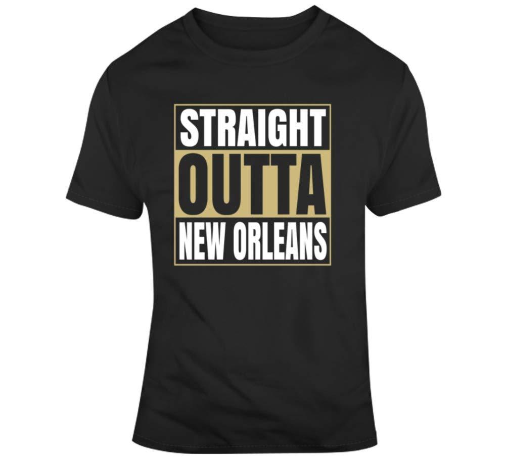 Straight Outta New Orleans Louisiana Football Fan Supporter T Shirt 9438