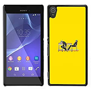 MOBMART Carcasa Funda Case Cover Armor Shell PARA Sony Xperia T3 - Are We Supposed To Read Or Sleep?