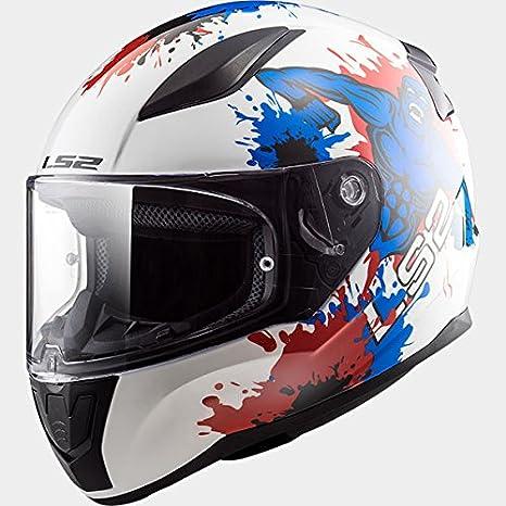LS2 FF353 RÁPIDA Mini Monstruo Casco de Moto de Cara Completa para Niños Cascos Integrales -