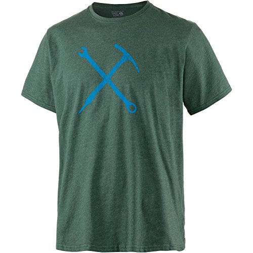 Mountain Hardwear Men's Mountain Mechanic Short Sleeve T-Shirt, Heather Forest, XL