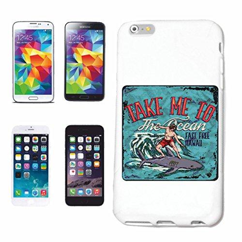 "cas de téléphone iPhone 7 ""TAKE ME TO SHARK SHARK SURF BEACH SURFBOARDS LONGBOARD ONDES SURF Beginner Shop"" Hard Case Cover Téléphone Covers Smart Cover pour Apple iPhone en blanc"