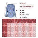 Women's Button Casual Tops Cowl Neck Long Sleeve