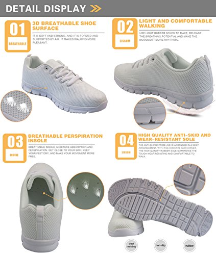 Running Tennis Casual Sneakers for Flexible Lightweight Coloranimal Shoes 3 Women Skulls Sugar Walking E1w8WqxC