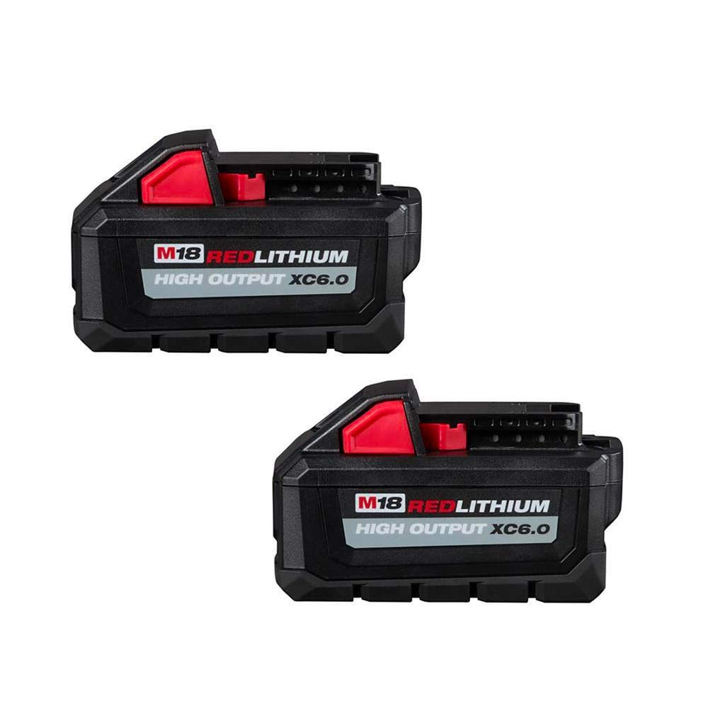 MILWAUKEE ELECTRIC TOOLS CORP 48-11-1862 2PK M18 Redlithium High Output XC 6.0 Battery
