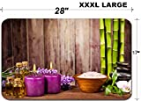 Liili Large Table Mat Non-Slip Natural Rubber Desk Pads IMAGE ID: 18367443 Spa still life with free space for text