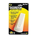 Master Caster 00900 Big Foot Doorstop, No Slip Rubber Wedge, 2 1/4w x 4 3/4d x 1 1/4h, Beige