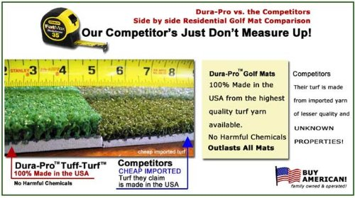 Golf Mat 5' x 5' OCTAGON Dura-Pro Plus Premium Commercial Golf Mat FREE Golf Ball Tray, FREE Balls, FREE Tees - FREE SHIPPING - 8 Year Warranty - Dura-Pro Golf Hitting Mats Make All Other Golf Mats Obsolete! Family Owned And Operated Since 1997 - Dura-Pro by Dura-Pro Commercial Golf Mat (Image #3)