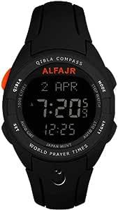 الفجر ساعة رياضية للرجال رقمي بلاستيك مطاطي - WQ-18