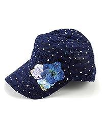 Glitzy Greatlookz Game Flower Sequin Trim Baseball Cap