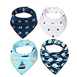 Bandana Drool Bib Set(4 packs),100% Extr...
