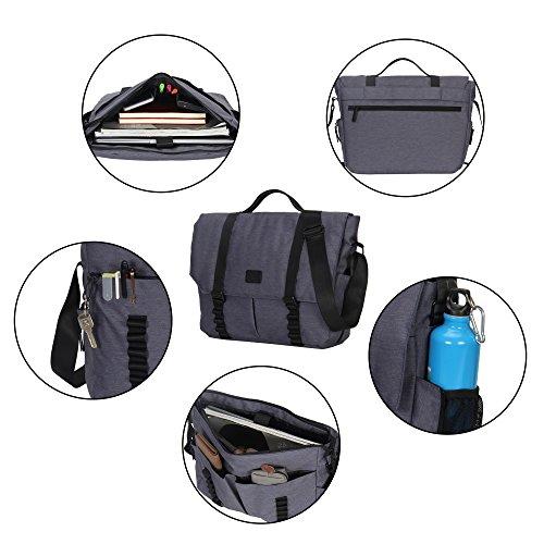 Veevan Bolso de Bandolera para el Hombre bolsa de hombre para Portátiles 14 Pouces Bolso de Mano 13L(Azul oscuro) Azul oscuro