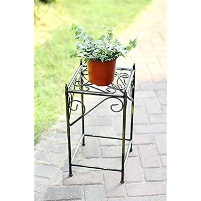 ORE International LB-1706 LB-1706 Plant Stand, Black/Gold : Garden & Outdoor