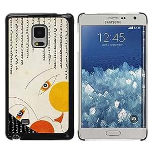 Be Good Phone Accessory // Dura Cáscara cubierta Protectora Caso Carcasa Funda de Protección para Samsung Galaxy Mega 5.8 9150 9152 // Deco Face Eyes Girl Art Fashion Painiting