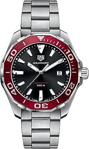 TAG Heuer Aquaracer Black & Red 43mm Men's Watch WAY101B.BA0746 (Bezel Tag Heuer)