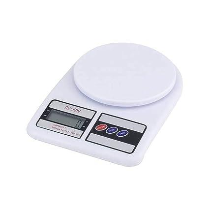 tradeshoptraesio – Báscula Digital LCD Botón Tara Pesa de 1 Gr a 7 kg SF 400