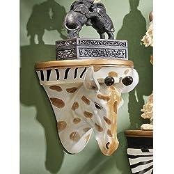 Design Toscano African Giraffe Wall Shelf Sculpture