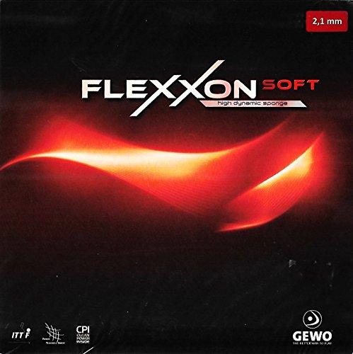 GEWO Flexxon Soft Table Tennis Rubber , Black , 2.1 mm. Sponge Thickness by GEWO