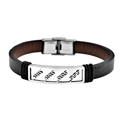 Amazon.com: EDFORCE pulsera de acero inoxidable para hombre ...
