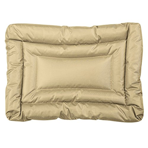 Slumber Pet Water-Resistant Beds  -  Comfortable and Durable Nylon Beds for Dogs and Cats - Small, Tan ()