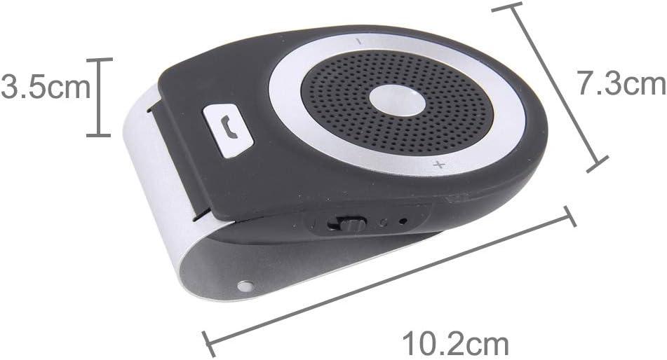 COOLLIU Transmisores FM de Audio para el automóvil Radio de Coche Bluetooth en el Coche del Altavoz Receptor Universal T821 Información de Bluetooth en el Coche del Altavoz del Coche MP3 y MP4 y MP5