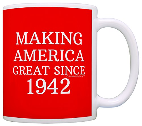 75th Birthday Gifts Making America Great Since 1942 Funny