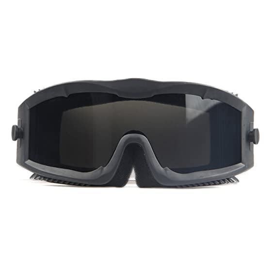 6a5c3cfd310 Military Alpha Ballistic Goggles Tactical Army Sunglasses Airsoft CS  Paintball Glasses 3 Lens Kit (Black)  Amazon.co.uk  Sports   Outdoors