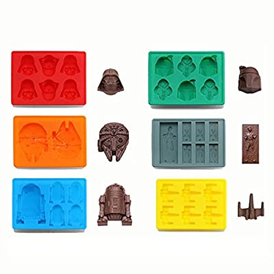 Silicone Ice Cube Tray Star Wars Chocolate Jelly Candy Soap Cake Mold