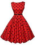 GRACE KARIN Audrey Hepburn Dress for Women 50s Style Sleeveless Size L F-7