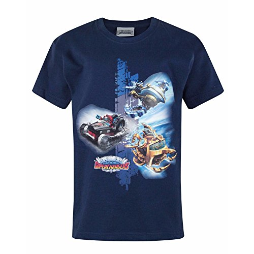 (Skylanders Childrens/Boys Official Superchargers Doom T-Shirt (Years (3/4)) (Navy))