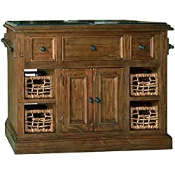 Hillsdale Tuscan Retreat Large Granite Top Kitchen Island in Oxford